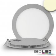 LED Downlight, 18W, rund, ultra flach, silber, warmweiß,...