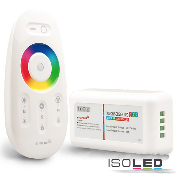 Wireless RGB Touch Controller, weiss, 12-24V, max. 288W