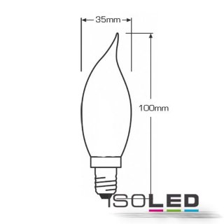 E14 LED Filament Glühfaden-Kerze Cosy, 2 Watt, klar, warmweiss