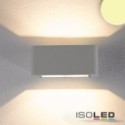 LED Wandleuchte UP&DOWN, IP54, 4x3W CREE, silber, warmweiss