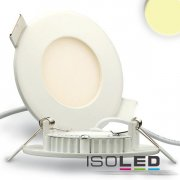 LED Downlight weiss 3W, 120°, warmweiss