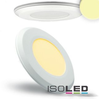 LED Downlight, weiss, superflach, 4W, 12V/DC, DM: 118mm, warmweiss