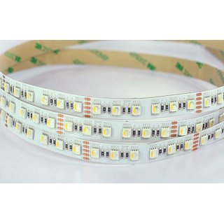LED Flex Strip 24V/DC, 90W (RGB: 65W, weiß: 25W), ONE-CHIP RGB-W warmweiß