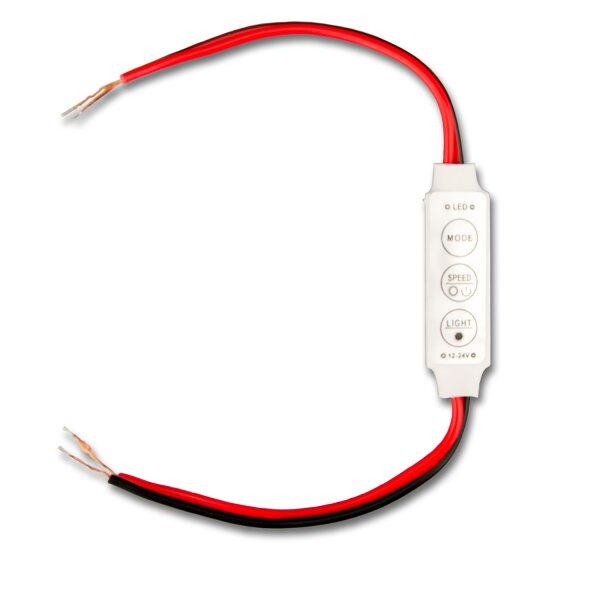 Black Manual 12V Dimmer Switch Controller LED Strip Light miniamp