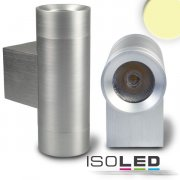 LED Wandleuchte Up&Down, silber, 2x1W 25°,...