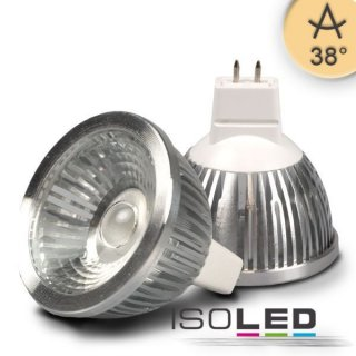 MR16 LED Retrofit Strahler 5,5W COB, 38° ultra-warmweiß 2500K, dimmbar