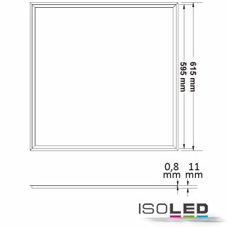LED Panel FRAME 620, 40W, neutralweiß, dimmbar (1-10V)